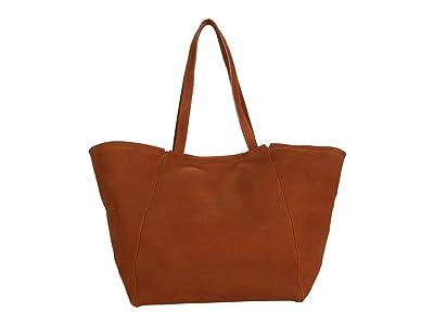 Madewell Large East/West Suede Tote (Rustic Twig) Handbags