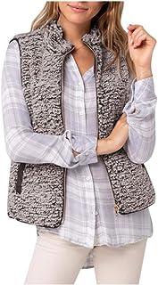 Fossen MuRope Abrigo Mujer Invierno Elegantes de Gran Tamaño Felpa, Abrigo Acolchado Mujer Largos Espesar Suéter Parkas Su...