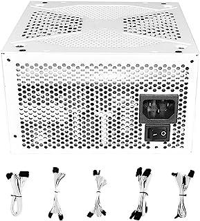 80PLUS Strömförsörjning med Guldmedalj 100-240V, Helt Modulär, med Intelligent Start-stopp Tyst Fläkt, Lämplig för Storska...