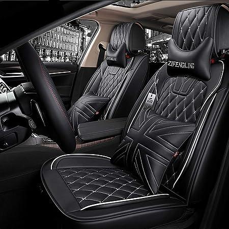 Sitzbezüge Leder Universal Autositzbezüg Pu Leder Autositzbezug Sets Vollen Satz Wasserdicht Kompatibler Airbag Für Bmw F10 F11 F15 F16 F20 F25 F30 Januar 3 4 5 7 Serie Gt X1 X3 X4 Schwarz