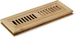 2 X 14 Inch American Cherry Wood Flush Mount Louver Floor Register Vent Cover Grille Unfinished by WELLAND, 3/4