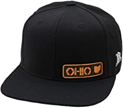 Branded Bills 'Ohio Native' Leather Patch Snapback Hat