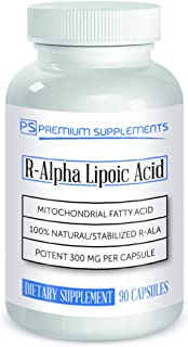 R-Alpha Lipoic Acid 300MG of Pure R-LIPOIC Acid 90 Count. ((((MAX Strength))))