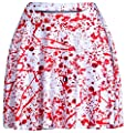 Happy Cool Women's Pattern Printed Digital Casual Flared Skater Bust Skirt