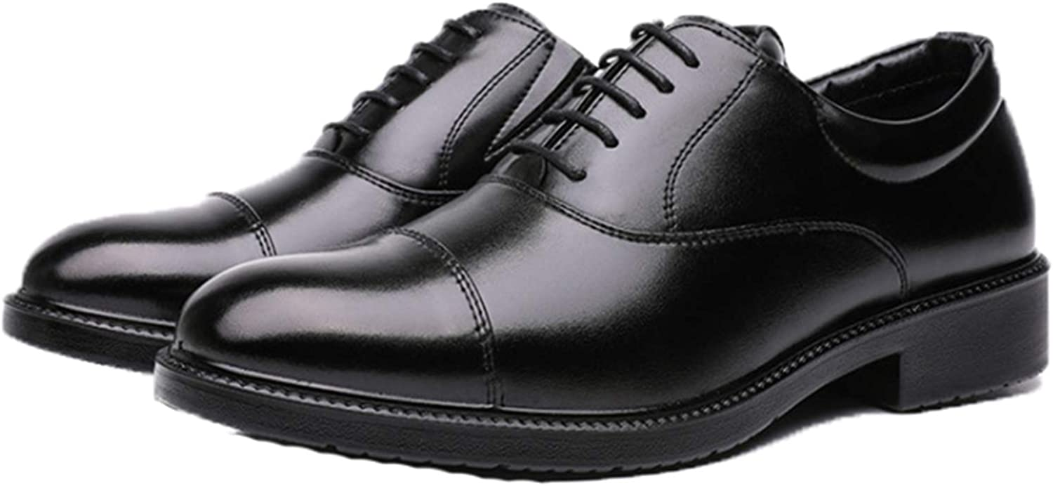 Men Dress Shoes Wear-Resistant Low-Top Formal Shoes Gentleman Leather Footwear Vintage Oxford Shoes for Wedding Party