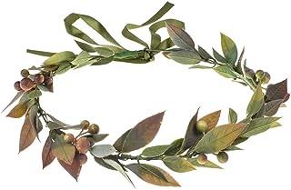 DDazzling Green Leaf Crown Boho Leaf Crown Eucalyptus Halo Wedding Woodland Crown Photo Prop