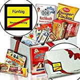Ortsschild 50 ++ Süßigkeiten Box DDR ++ Geschenke zum 50 Geburtstag Frau