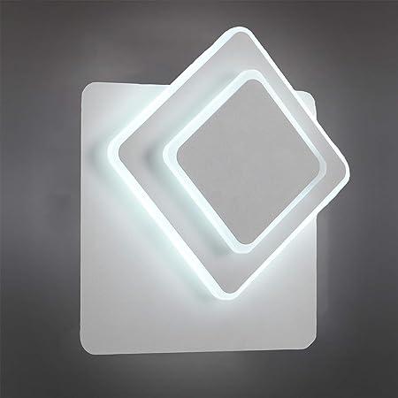 Applique Murale 15w Blanc Lampes Creative 3 en 1 6000k Eclairage Rotatoir à 350° Dispositif Décoratif de Lampe pour Chevet Salon Couloir Balcon Escalier