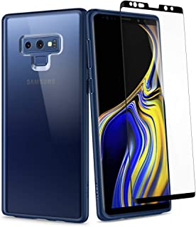 Spigen Samsung Galaxy Note 9 Ultra Hybrid 360 degree protection cover/case - Blue with Curved Glass Screen Protector