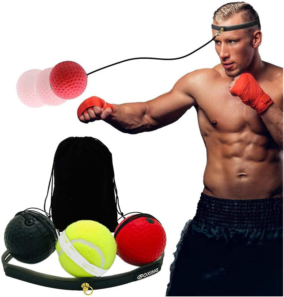 US Boxing Training Fight Ball Punch Speed Exercise Combat Head Band Equipment
