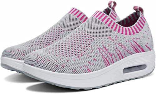 New Casual de la mujer calzado deportivo transpirable de correr señoras zapatos de viaje tamaño 35 39