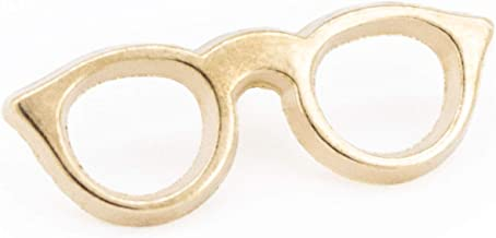 YUTTALIA めがね ピンズ 眼鏡 ピンバッチ サングラス バッジ ゴールド