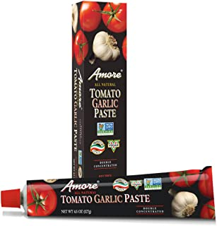 Amore All Natural Garlic Tomato Paste, 4.5 Ounce Tube