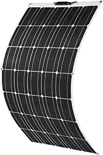 XINPUGUANG 100W 12V ソーラーパネル ソーラーチャージャー 単結晶 極薄 軽量 太陽光発電 RV キャンピングカー 船舶 テント アウトドア 住宅 防災などに活躍