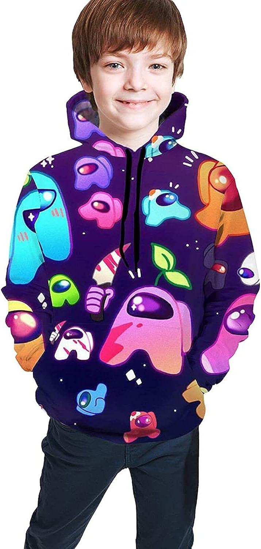 MNWS Youth Minneapolis Mall Hoodie Among Us Girls Print and Excellence Boys Sweatshirt