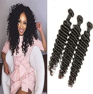 Peruvian Pair Bundles Deep Wave 12 14 16 Inch Natural Color Virgin Unprocessed Human Hair Extensions For Black Woman 3 Pcs