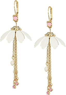 Betsey Johnson - Flower & Chain Drop Earrings