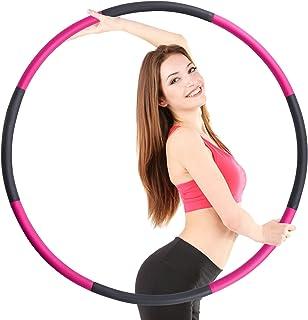 TOPLUS. Hula Hoop däck vuxna, hula hoops för människor för viktminskning och massage, 8 avtagbara Hula-hoop-sektioner av r...
