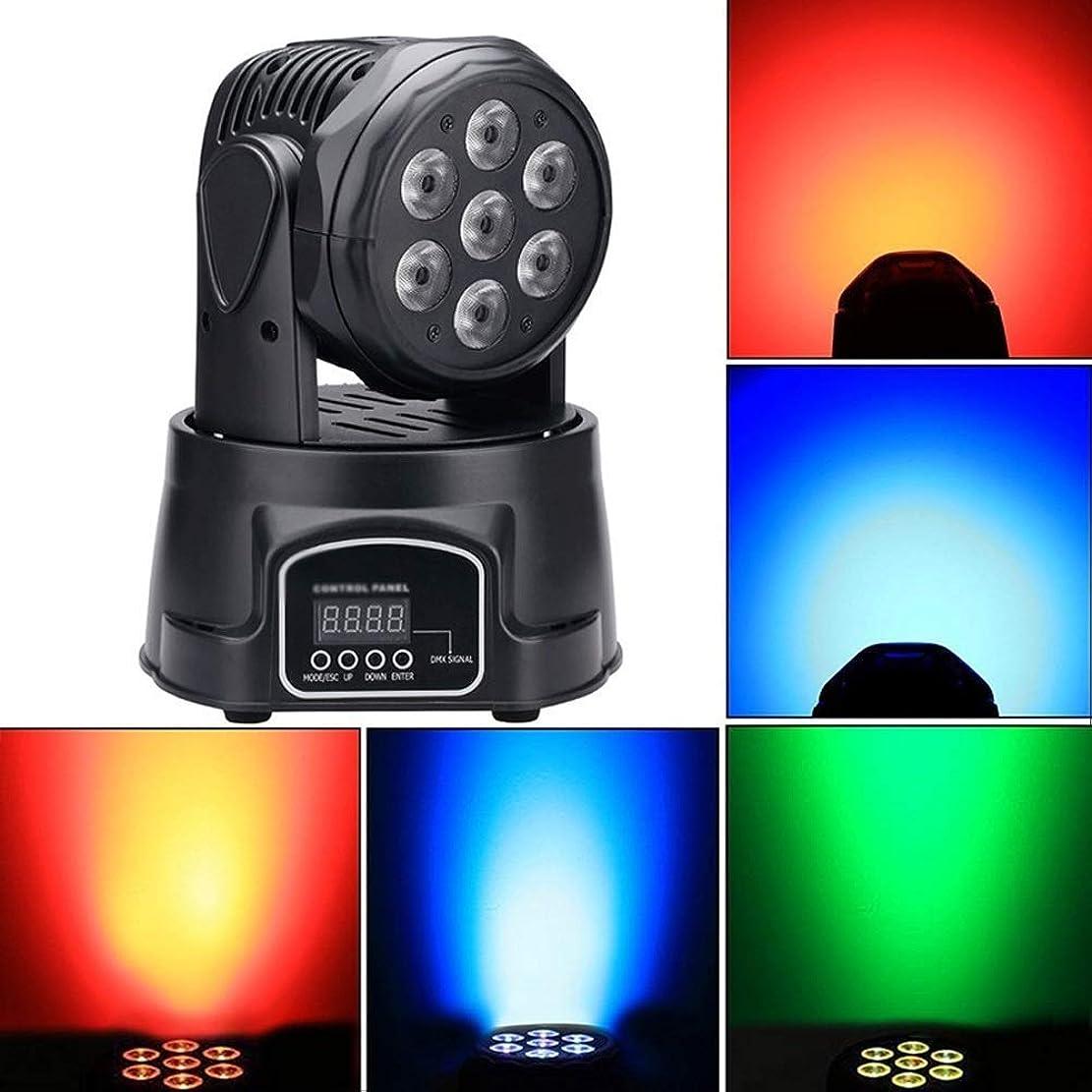 干渉する霧電気陽性HDZWW ムービングヘッドステージビームライト、ムービングヘッドDJ照明、LED 7 * 10W小型ムービングヘッドライトRGBW 4 in 1 15WパーティショーDJ KTVウェディング用音声起動DMX512コントロール