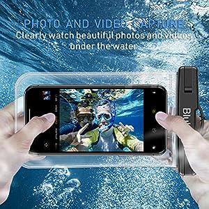 Funda Impermeable Móvil [6.5 inch*1+6 inch*2], Blukar 3 Unidades IPX8 Bolsa Impermeable Móvil Teléfono Universal Funda Sumergible Móvil para Phone XS MAX/XS/8 Plus, Huawei, Galaxy S10/S9, Sony etc.