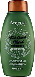 Aveeno Conditioner Fresh Greens Blend 12 Ounce (Thicken) (354ml) (3 Pack)