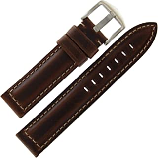 Hadley Roma Brown 20mm Mens Water Resistant and Hypo Allergenic Oil Tan Leather Watch Band