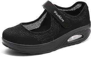 [TNY] 安全靴レディース ナースシューズ厚底メッシュ お年寄りシューズ 上履き 上靴 大人 介護靴 介護 シューズ 婦人靴ママシューズ普段履きレディーススニーカー