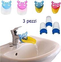 Edealing Rubinetto Extender Per Aiuta bambino Bambini mano lavaggio Foglia Stile Sink