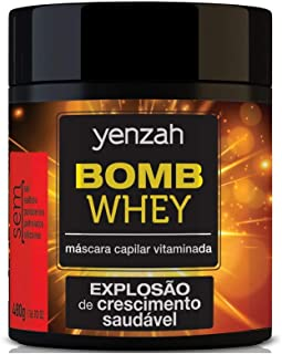 Máscara Bomb Whey, Yenzah, Branco