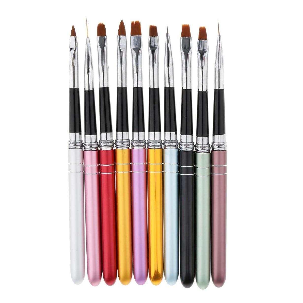 ずんぐりしたローン民主党Perfk 約10本 ネイルブラシ ネイルアート ネイルサロン 彫刻ペン 塗装ペン ライトセラピーペン 描画ペン ブラシ 高品質 プレゼント
