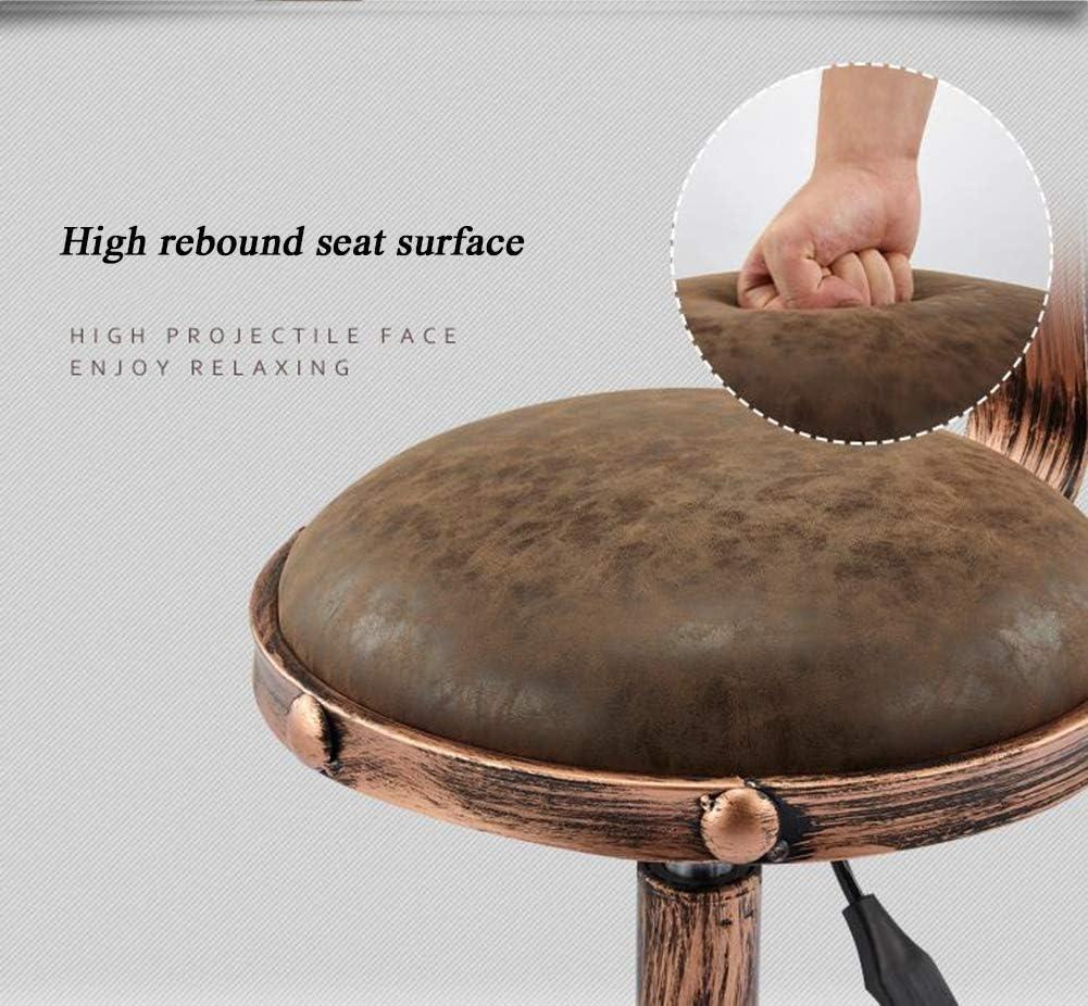 BannerZhu Tabouret tournant à 360 degrés, chaises réglables en Cuir PU, siège Profond pour tabourets de comptoir, siège réglable, Fauteuil de beauté, pour café,D A