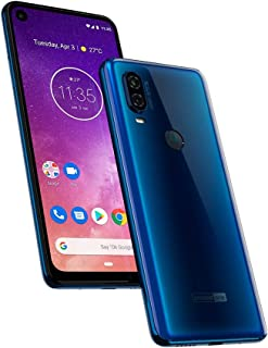 Motorola One Vision (128GB) 6.3' Full HD Display, 48MP Camera, Dual SIM US + GLOBAL 4G LTE GSM Factory Unlocked XT1970-1 - International Version (Blue)