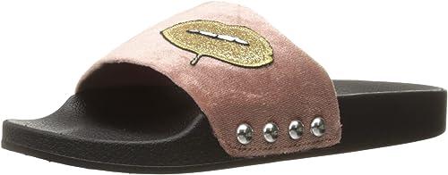 Steve Madden Wohommes Patches Flat Sandal