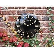 Outdoor Indoor Clock black Wall Garden Clock