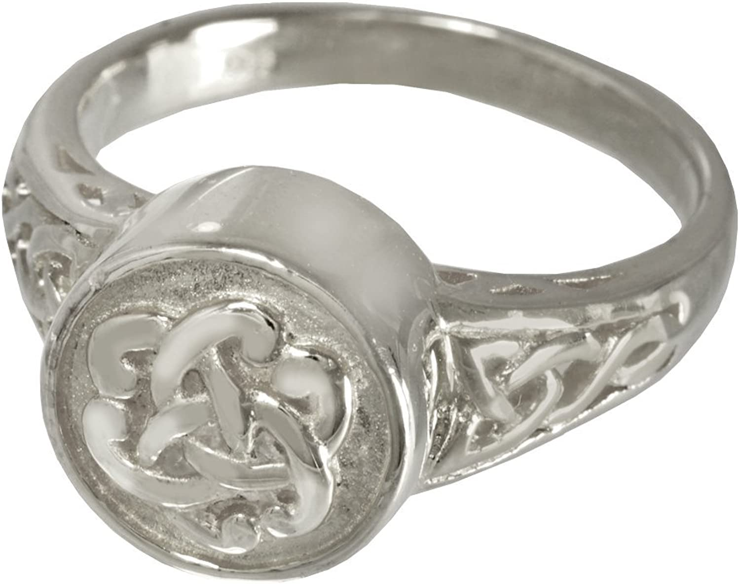 Memorial Gallery 2003P5 Celtic Ring Platinum (Allow 45 Weeks) Cremation Pet Jewelry, Size 5