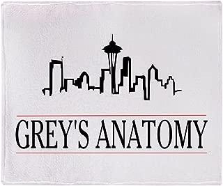 CafePress-Greys Anatomy Skyline-Soft Fleece Throw Blanket