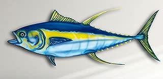 Yellow Fin Tuna 14 Inch Acrylic Fish Mount and Wall Decoration