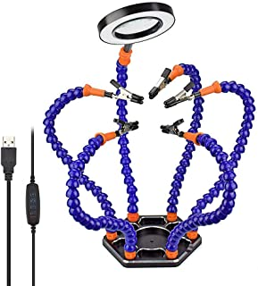 Sponsored Ad – Helping Hands,NEWACALOX Third Hand Circuit Board Holder with 3X USB Magnifying Glass Daylight,6 Helping Arm...