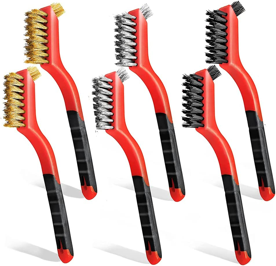 Wire Max 71% OFF Brushes for Cleaning 6 Rust Removal Sale price Brush Pcs Sta