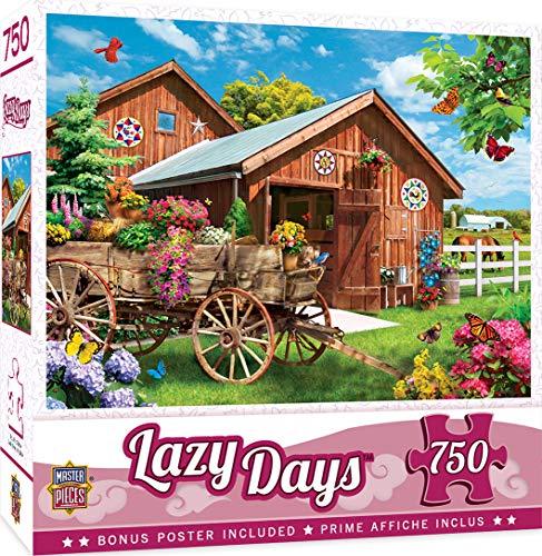 MasterPieces Lazy Days - Flying to Flower Farm 750-Piece Jigsaw Puzzle