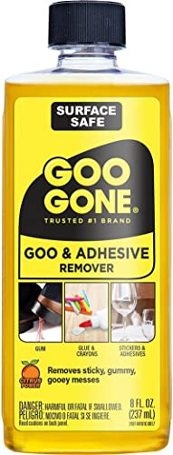 Goo Gone Original Liquid - Surface Safe Adhesive Remover – Safely removes Stickers, Labels, Decals, Residue, Tape, C...