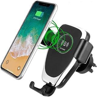 OSLOON 10W Wireless Charger Auto, 2 in 1 Qi schnelles Ladegerät für Entlüftung und Windschutzscheibe, KFZ Halterung für iPhone 12/11/XS Max Pro, Samsung S9/ S8 +/ Note, Huawei Mate 20 Pro usw.