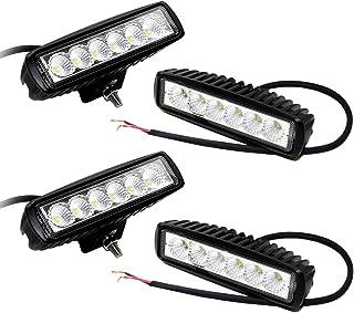 Leetop 4x18W Autoscheinwerfer LED Scheinwerfer Arbeitsscheinwerfer Offroad Zusatzscheinwerfer Auto DRL Working Lamp Spotlight Headlamp Black Die Cast Aluminium IP67