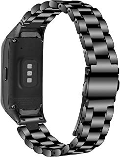 E ECSEM Compatible with Samsung Galaxy Fit SM-R370 Bands, Galaxy Fit Watch Band Solid Stainless Steel Metal Bracelet Strap...