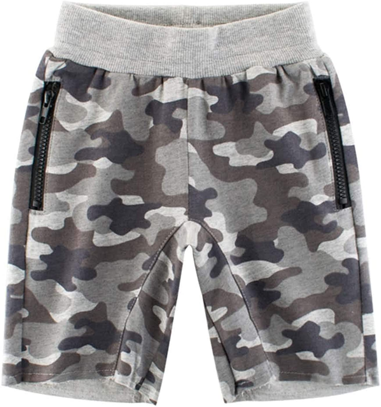 Askong Boys Sport Lounge Elastic Waistband Shorts Pant with Pocket for 1-10 Years