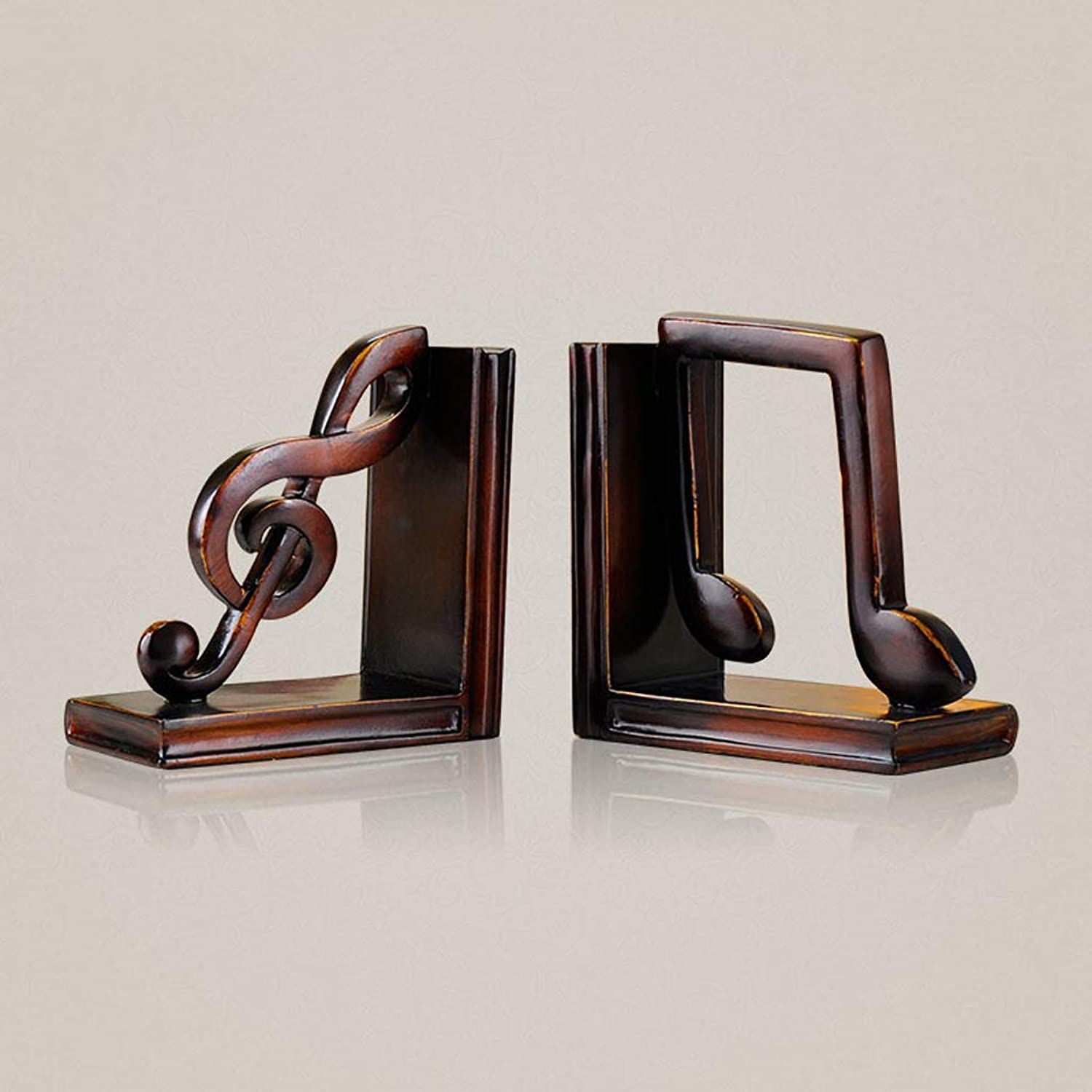 TLMYDD American Musical Book Block Decoration Creative Study Book Stand Clip Book Decoration Book Resin Craft Decoration 14.3x7.5x15.5cm Bookcase