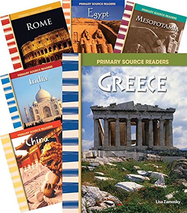 Teacher Created Materials - Primary Source Readers: First Civilizations - 6 Book Set - Grades 4-8 - Guided Reading Level O - Q