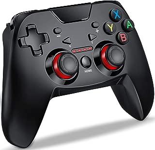 Switch コントローラー DinoFire スイッチ コントローラー 連射機能搭載 ジャイロセンサー HD振動 デュアルショック Bluetooth 接続 無線 ゲームパッド プロコン 任天堂 Switch 対応 小型 日本語取扱説明書