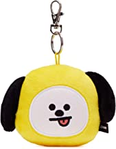 BT21 Official Merchandise by Line Friends - CHIMMY Character Plush Doll Face Key Chain Ring with Mirror Handbag Accessories