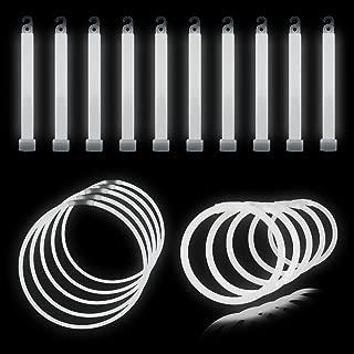 Lumistick Glow Sticks 175 Piece with Glowstick Bundle with Bracelets, Necklaces | Non-Toxic & Kids Safe Sticks - Bendable Ultra Bright Fluorescent Sticks Party Favors (White)
